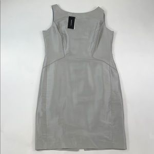 Lafayette Silver Zip Up Dress